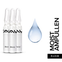 RAU Moist Ampoules 3 x 2 ml - Effective Moisture Booster
